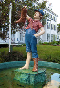 Statue of Boy with Boot